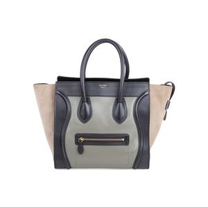 Authentic 💯 Celine Mini Luggage Tricolour